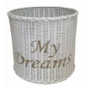 Witte Rieten Hanglampenkap My Dreams - 32xH30 cm