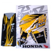 Kit Adesivo Com Capa Banco NXR-125/150 Bros 03/08 Styled (Cores) Dash