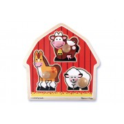 3 Piece Barn Animals Knob Puzzle by Melissa & Doug