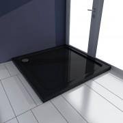 vidaXL Čtvercová ABS sprchová vanička, černá 80 x cm