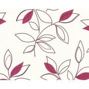 A.S. Création papel de perfil de estructura Sunny Side metálico lila blanco 10,05 m x 0,53 m 216236