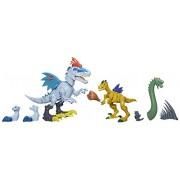 Hasbro B1388EU4 - Jurassic World, Hero Mashers Indominus Rex vs. Velociraptor