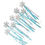 Frozen Birthday Party Favor Snow Flake Wand Set (8 Pieces Set)