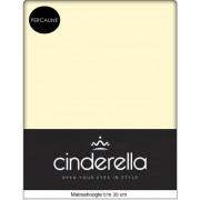 Cinderella Hoeslaken Percaline Vanille 90 x 220 cm