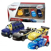 Disney Cars Cast 1:55 - Gift Pack Race Day Fan - 4 Vehículos