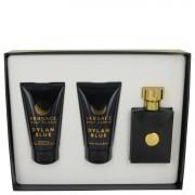 Versace Pour Homme Dylan Blue EDT Spray + After Shave Balm + Shower Gel Gift Set Men's Fragrances 538096