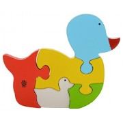 Skillofun Wooden Take Apart Puzzle Duck Duckling, Multi Color