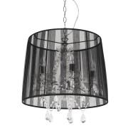 Suspension chandelier baroque 'KOSY' noire à pampilles