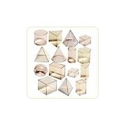 Set didactic de 15 corpuri geometrice
