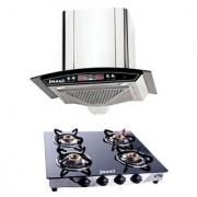 Jazel Metley 60Cm 1100M3/H +4Burner Cooktop (Combo Set Offer)