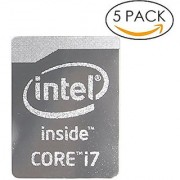 5x Original 4th Gen. Metallic Edition Intel Core i7 Inside Sticker 16mm x 21mm with Authentic Hologram