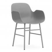 Normann Copenhagen Armchair Stuhl Mit Stahluntergestell Grau