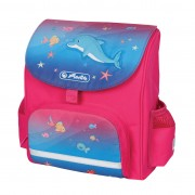 Ghiozdan ergonomic neechipat, dimensiune 26x24x14cm, motiv Mini Softbag Little Dolphin