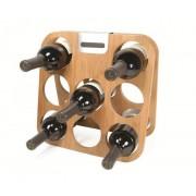Suport din bambus pentru 8 sticle de vin