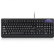 Perixx PERIBOARD-517 Water Proof Keyboard - SGS Certified IP 65 Level - Fit with Medical and Industrial Environment - Black