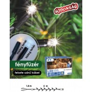 Fényfüzér toldható Kontakt LED 5m 50db meleg fehér LED KDK 001