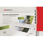 Monolith Fast Warm-Up A4 Laminator With 100 Laminating Pouches