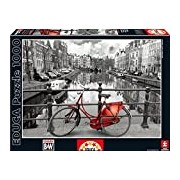 Educa 14846 - Amsterdam, Netherlands - 1000 pieces - Coloured Black & White Puzzle