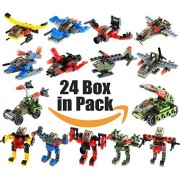 Gimpo Star Wars Series Creative Building Blocks Bricks 2 in1 Kits Set (Pack of 24 box) (LEGO Compatible)
