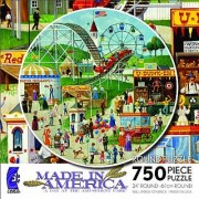 Ceaco Made In America Round - A Day At The Amusement Park