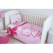 Hello Kitty Cot Bed Duvet Cover & Pillow Case