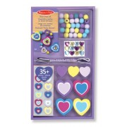 Melissa & Doug Wooden Heart Bead Set