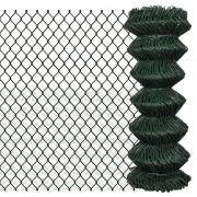 vidaXL Оградна мрежа 1м х 25м, зелена