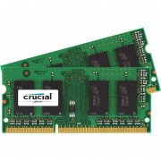 Crucial 16GB Kit (8GBx2), 204-Pin SODIMM, DDR3 PC3-12800 Memory Module - 16 GB (2 x 8 GB) - DDR3 SDRAM - 1600 MHz DDR3-1600/PC3-12800 - 1.35 V - Non-ECC - Unbuffered - 204-pin - SoDIMM - CT2KIT102464BF160B