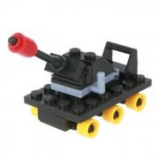 Gatling canon Estilo de Puzzle Los bloques de montaje de juguetes educativos - Verde