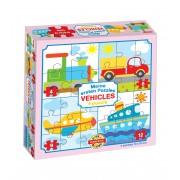 Puzzle pentru bebeluși Dohány Primul meu puzzle Vehicule 500-6