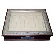 Cofre madera plata [4324]