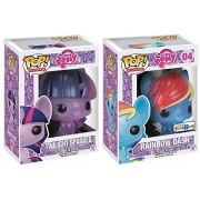 Funko POP! My Little Pony Vinyl Figure - Twilight Sparkle Exclusive Glitter #06 & Rainbow Dash Glitter #04