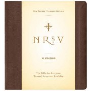New Revised Standard Version Bible No Apocrypha (Brown) by Harper Bibles