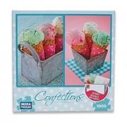 Ice Cream Cones 1000 Piece Puzzle + Stationery Set by Mega Puzzles