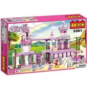 COGO Girls Prince Castle and Princess Carriage Christmas Toys for Girls Building Blocks 603 Pieces - 3261