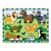 Melissa & Doug Pets Chunky Puzzle - Green - 3724