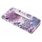 Bloemen design TPU Wallet Case voor de iPod Touch 5g / 6