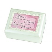 Children's Cottage Garden Ivory Dance with All Your Heart w/ Spinning Ballerina Music Musical Jewelry Box Plays Swan Lake