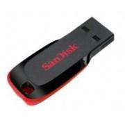 Stick USB SanDisk Cruzer Blade, 64GB (Negru/Rosu)