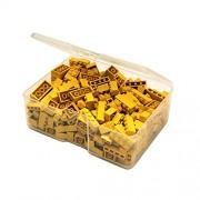 Q-Bricks Unicolor básico Building Blocks Piccolo Box (300-Piece, amarillo)