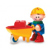 Tolo Toys First Friends Construction Worker with Wheelbarrow