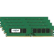 Crucial CT4K16G4DFD824A Kit Memoria 4x16GB, 64GB, DDR4 2400 MT/s, PC4-192000, DIMM 288-Pin, Verde