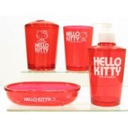 coffret cadeaux hello kitty salle de bains rouge