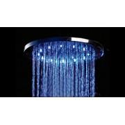 Pomme de douche ronde effet pluie avec LEDs 50 x 50 cm Elsa Solde