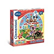 Clementoni 23018.1 - Clock Mickey Mouse Club House 96 Piece Jigsaw Puzzle