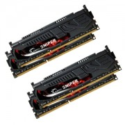 Memorie G.Skill Sniper 16GB (4x4GB) DDR3 PC3-12800 CL9 1.5V 1600MHz Dual/Quad Channel Kit, F3-12800CL9Q-16GBSR