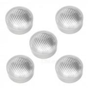23.0mm optica / difusores de luz - blanco + transparente (PMMA / 5 PCS)