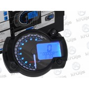 Race dashboard Model: RX2N + Teller: Zwart Verlichting