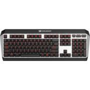 Teclado Gamer Cougar ATTACK X3 LED Rojo, Teclado Mecánico, Cherry MX Brown, Alámbrico, Negro/Plata (Inglés)
