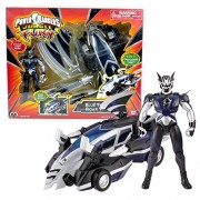 Bandai Year 2007 Power Rangers Jungle Fury Series 8 Inch Long Vehicle Set Blue Thunder Roar Vehicle That Morph To Animal Zord Plus Bat Ranger